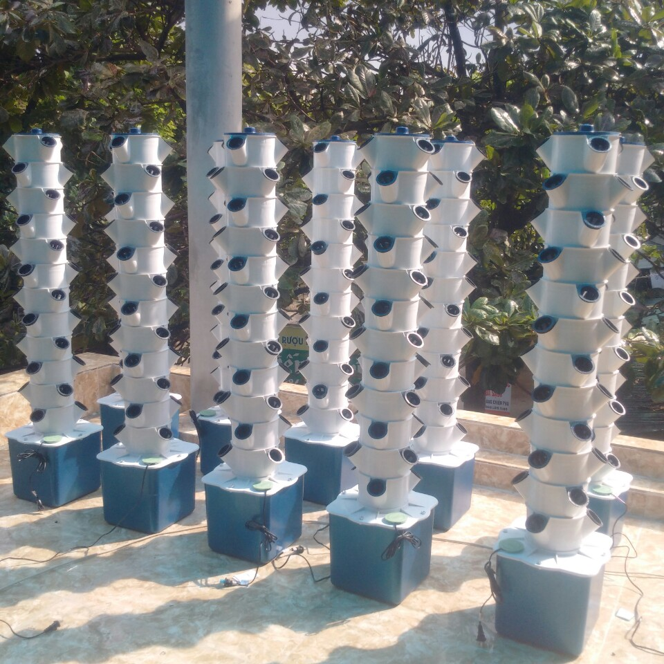 Tháp Nhựa Trồng Rau Khí Canh